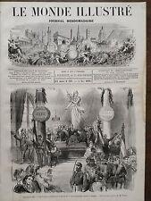 LE MONDE ILLUSTRE 1870 N 708 ENROLEMENT DES VOLONTAIRES AU SQUARE DU TERMPLE