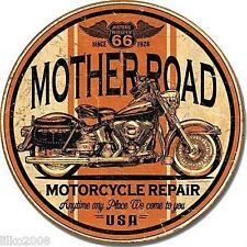 "Route 66 Mother Road Motorcycle Repair Round 12"" metal Sign HARLEY MOTORCYCLE"