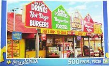 NEW Puzzlebug 500 Piece Puzzle ~ Fast Food Stalls, Skegness, Lincolnshire, UK