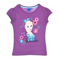 DISNEY t-shirt manches courtes LA REINE DES NEIGES  5 6 ou 8 ans  violet NEUF