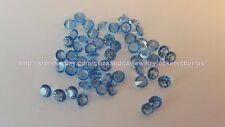LOT 10pcs 4mm Sky Blue Crystal for Origami Owl Floating Charm Lockets US seller