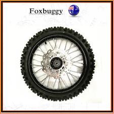 60/100-14 Inch front Disc Brake Wheel 15mm Axle Knobby Tyre Tire Dirt Bike
