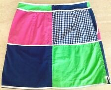 ***LILLY PULITZER***__PATCHWORK  PRINT  LINED  MINI  SKIRT_________SIZE 4