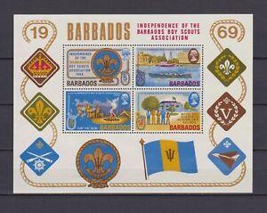 s16783) BARBADOS  MNH** Nuovi** 1969 Scouting s/s