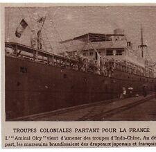 1915  --  INDOCHINE  L AMIRAL ORLY DEPART DE TROUPE POUR LA FRANCE   Y829