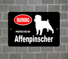 Property protected by Affenpinscher dog breed metal aluminum sign