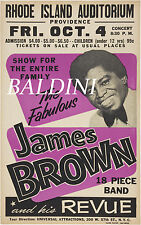 JAMES BROWN -HIGH QUALITY EARLY VINTAGE 1963 CONCERT POSTER, LOOKS GREAT FRAMED