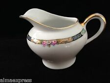 Gimbel Brothers KPM Bavaria Germany China 27044-4576 Roses Gold CREAMER PITCHER