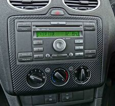 3D Carbon fibre black radio dash to fit FORD FOCUS MK2 2004-07 ST RS ZETEC ST-3