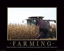 Farming Motivational Poster Art Print Poster Farmall IH Tractor 11x14 MVP45