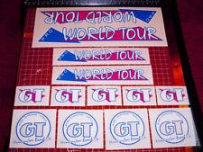 1986 GT BMX Pro World Tour, restoration decals clear MAGENTA THIN, RAD
