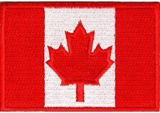 "(A11) Canadian Flag 3"" x 2"" iron on patch (2038) Canada Biker Vest Cap"