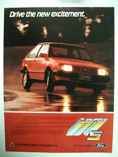 1983 FORD KB LASER S FULLPAGE COLOUR MAGAZINE ADVERTISEMENT