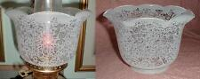"""Etched Glass Shade for old oil,kerosene,banquet lamp 4"""" Victorian Lace Ct"""