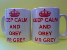 50 Shades of Grey 'KEEP CALM' Mug!  Can Personalised with any Name!  Great Gift!