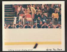MARCH 30 1981 WAYNE GRETZKY OILERS BREAKS POINTS RECORD WIRE PRESS PHOTO BENCH