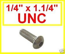 "Stainless Imperial UNC Button Head Allen Bolts (Socket Caps) 1/4 x 1.1/4"" 10 Pk"