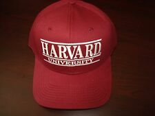 HARVARD CRIMSON THE GAME BAR BARS SCRIPT SPLIT  NEW HAT CAP VINTAGE SNAPBACK
