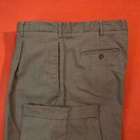 TRUST ... Brown  Flat  Front  Cuffs  Dress  Pants ... Size  40 x 30