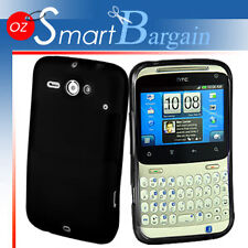 Black Soft Gel TPU Cover Case For HTC ChaCha G16 + Screen Protector