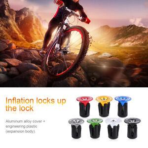 2X Bicycle Handlebar End Plugs 17.5-21.9mm Bike Colorful Bar End Cap Anti-slip❤T