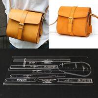 10pcs Leder Craft Acryl Schultertasche Handtasche Muster Vorlagen Schablonen