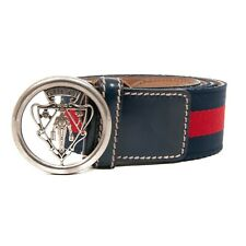 c481e791e3e GUCCI - FABRIC BUCKLE BELT - BLUE AND RED STRIPE BELT - SIZE 90