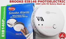 Brooks Mains Powered Photoelectric Smoke Alarm With Alkaline Battery Backup