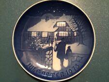 Royal Copenhagen Christmas Plate JULE AFTER 1973 B&G Country Christmas Blue Vtg