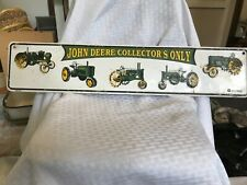 John Deere country nothing sign tag green tractor collectors only street parking