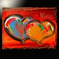 Modern Abstract HEARTS  Large  Original Oil Painting  IMPRESSIONIST FINE ART
