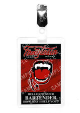 True Blood Fangtasia Bartender ID Badge Vampire Cosplay Prop Costume Halloween