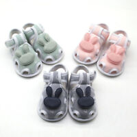 Infant Newborn Baby Girls Boy Prewalker Printing Rabbit Cartoon Single Shoes AU