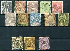GABON 1904 Yvert 16-25,28-29,31 gestempelt 240€(D7429