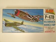 Jo-Han Republic P-47D Razorback or Bubbletop 1:72 Scale Model Airplane Kit A-102