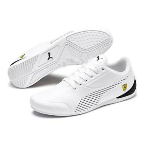 Magnifique Chaussures Puma White Ferrari Pour Hommes Taille 44.5 Quasi Neuve