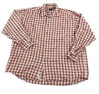 Vintage Levis Men's XL Red Cotton Plaid Flannel Button Up Shirt Work Wear