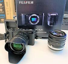 Fujifilm X-M1 16,3 MP Digitalkamera schwarz + Fujinon 1:1,6 50mm Objektiv