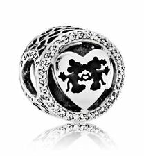 New Authentic Pandora Charm Bead  Disney, Mickey & Minnie Love #791957CZ