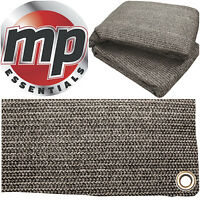 Anthracite & Grey Weaved Groundsheet Tent & Caravan Awning Carpet Mat - 2.5x2.5m