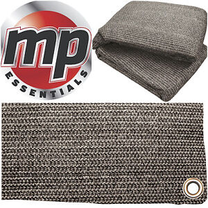 Anthracite & Grey Weaved Groundsheet Tent & Caravan Awning Carpet Mat 2.5 x 2.5m