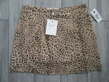 JOIE WOMENS LEOPARD PRINT SUEDE SKIRT, NWT $438