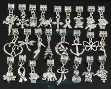 25pcs Tibetan Silver Mix Dangle Charms Fit European Charm Bracelet ZY04