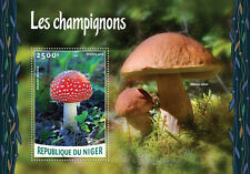 Niger 2016 MNH Mushrooms 1v S/S Champignons Fly Agaric Fungi Stamps