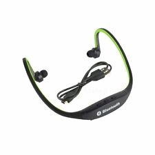 Wireless Bluetooth Handfree Stereo Headset Sports Headphone For Cell Phone Green