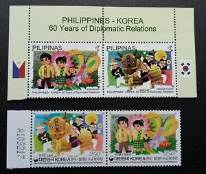 *FREE SHIP Philippines Korea Joint Issue 60th Diplomatic 2009 (stamp pair) MNH