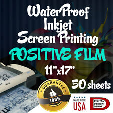 Waterproof Inkjet Transparency Film For Screen Printing 11 X 17 50 Sheets 1