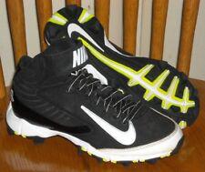 New listing NIKE Youth Huarache Mid 3/4 Molded Baseball Softball Cleats 634628-010 Youth 1Y