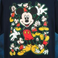 vintage 90s MICKEY MOUSE WALT DISNEY T-Shirt XL cartoon hip hop super soft