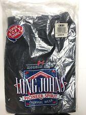 Morgan Mills Long Johns Pioneer Spirit Men 3XL Thermal Wear Black Ankle Drawer